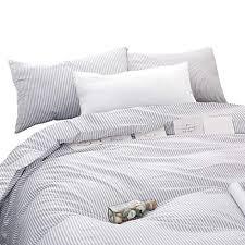 gray white striped comforter set grey
