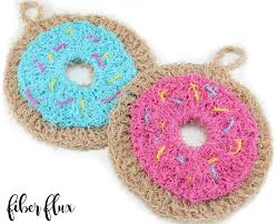 Free Crochet Patterns For Scrubbies Awesome Fiber Flux Free Crochet PatternDonut Scrubby