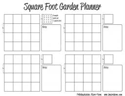 Garden Layout Template Square Foot Garden Planner Frühlingskabine Micro Farm