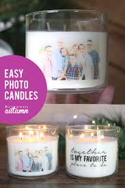 gorgeous personalized photo candles