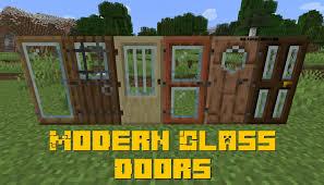 modern glass doors for minecraft 1 16