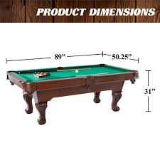 barrington 90 inch ball and claw leg billiard pool table with bonus cue rack and dartboard set com