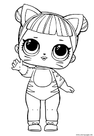 Print Lol Doll Tiger Cat Cute Coloring Pages Coloring Book Cute