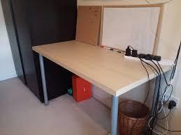 4 month old ikea desk ikea name linnmon adils in birch effect