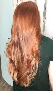 Copper Red Gold Blonde Balayage With