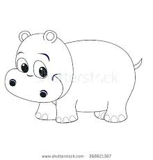 Hippopotamus Coloring Pages Sweet Image Cartoon Hippo Home