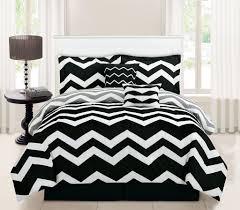 5 piece twin chevron black comforter set
