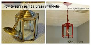 appealing painting a brass chandelier how to spray paint a brass light fixture or the red