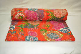 indian antique french cushions. Image Result For Orange Floral Kantha Material Indian Antique French Cushions