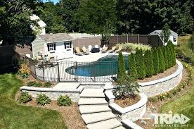 pool retaining wall finished retaining wall projects swimming pool retaining wall ideas