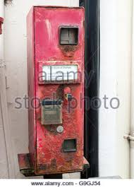 Old Stamp Vending Machine Impressive Old Vending Machine For Postage Stamps In Oakham Stock Photo