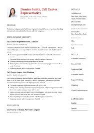 customer service representative resumes call center customer service representative resume 38241