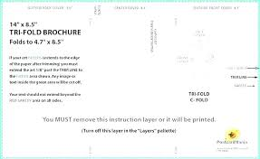 4 Panel Brochure Template 6 Fold Brochure Template