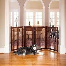 wooden indoor gate in wooden pet safety gate rubber pad walk thru fence indoor door dog barrier new