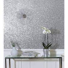 arthouse sequin sparkle wallpaper bed