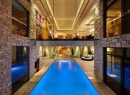 delightful designs ideas indoor pool. Walkway Above The Pool Creates A Cool Visual Delightful Designs Ideas Indoor