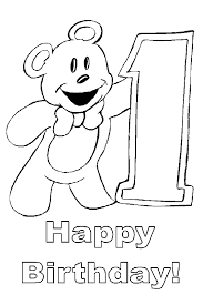 Help your child to color this page; Happy Birthday Coloring Pages To Color In On Your Birthday
