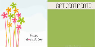 017 Free Template For Gift Certificate Mothers Day Dreaded