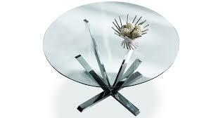 Table Ronde Plateau Verre Pied Central Maison Design Caneletacom