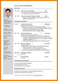 Cv English Model Ideas Of Cv Resume Example Pdf Curriculum Vitae