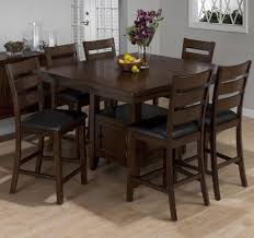 dinning room counter height dining table with erfly leaf 7 piece dining room set under