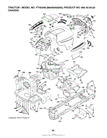 husqvarna yth2348 96045002200 2010 02 parts diagram for mower chassis frame