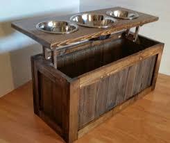 raised dog feeder with storage 3 bowl dog feeder keep food d beneath bowls