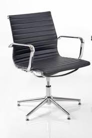 classic office chair. Aria AM3 Medium Back Classic Office Chair In Ribbed Leather With Chrome Detail H