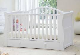 Br Baby Oslo Sleigh Cot Bed White