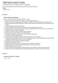 Product Management Resume Samples. sample resume marketing product ...