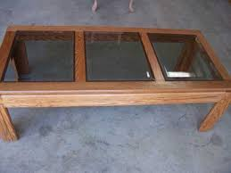 Wonderful Oak Coffee Table With Glass Top With Additional Interior Home  Design Makeover