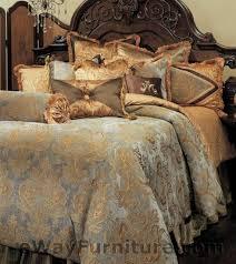 12 pc reversible elizabeth queen master bedroom luxury bedding set by aico