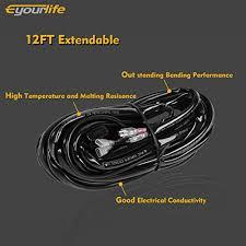 eyourlife wiring harness kit 12v 40a off road led light bar relay Eyourlife Wiring Harness home jeep accessories aux lighting eyourlife wiring harness eyourlife light bars wiring harness
