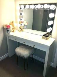 Bedroom Vanity Set With Lights Mirror Makeup Led For Table Sale ...