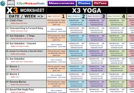 workout sheets excel workout tool for p90x3