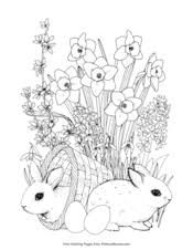 April showers definitely do bring may flowers and may is flower time! Spring Coloring Pages Free Printable Pdf From Primarygames