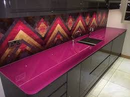 image of glitter countertop purple