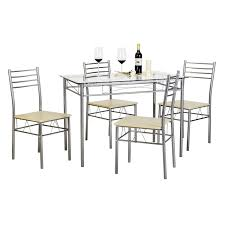 Buy Svitlife Kitchen Dining Table Setglass Table And 4 Chairsblack