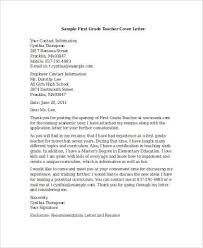 Cover Letter Examples For Teacher 8 Free Documents In Word Pdf