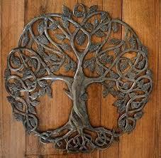 wooden tree of life wall art uk