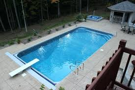 in ground jacuzzi. In Ground Jacuzzi Vinyl Liner Pool Automatic Cover Hot Tub Retaining Wall And Diving