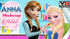 anna makeup artist y8 games disney frozen princess elsa and anna makeup game for s you