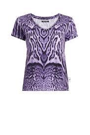 Ocelot <b>Summer print T</b>-<b>shirt</b>   Roberto Cavalli Performance Tops ...