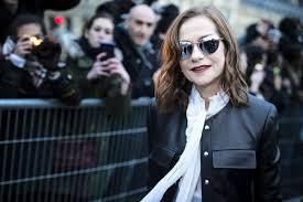 isabelle huppert at louis vuitton show fall winter 2018 paris fashion week france
