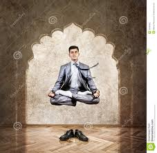 meditation businessman office. yoga meditation in the air stock photography businessman office s