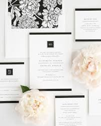 Shine Wedding Invitations Invitation Package With Black Floral Envelope Liner