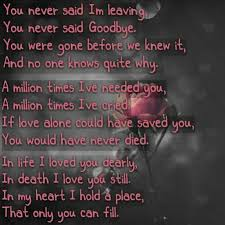 Foxy Loss Of A Loved One Poems And Than Inspirational Quotes Loss Fascinating Inspirational Quotes For The Loss Of A Loved One