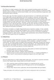 Format For An Executive Summary Executive Summary Template For Business Plan Business