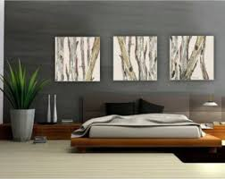 extra large wall art oversized triptych set dining room neutral decor white huge canvas print tree trunks pastels white living room artwork on wall art sets for dining room with living room artwork etsy