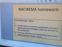 nacirema essay  horace miner s body ritual among the nacirema essay example for